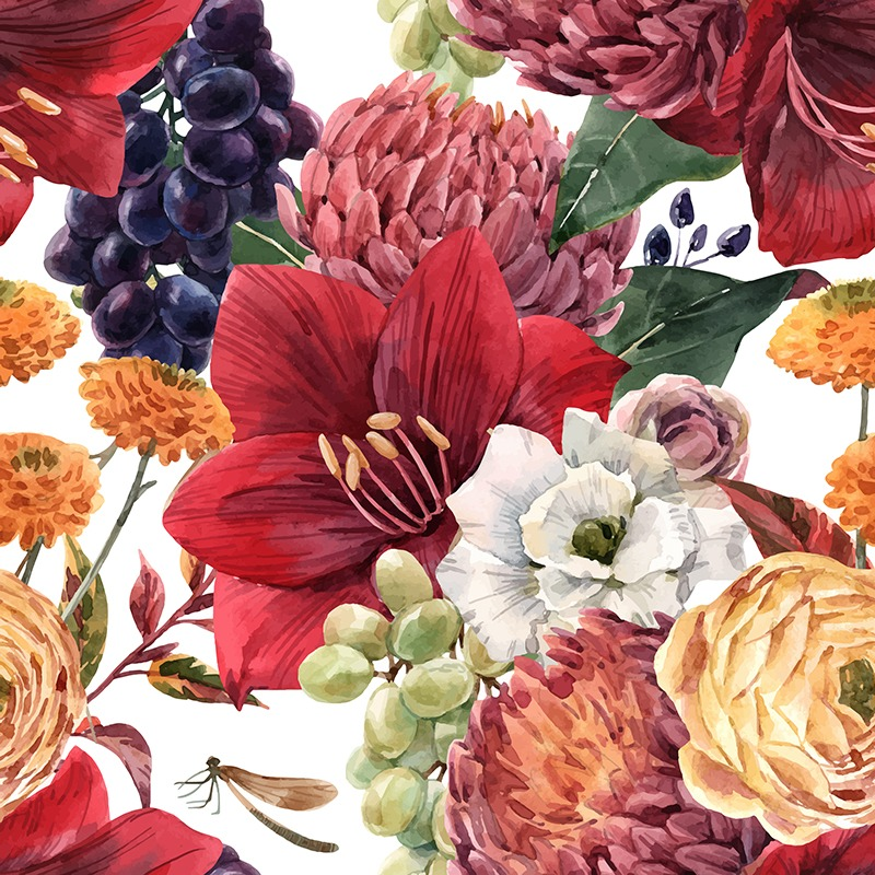 Šušťákovina-so-záterom-jesenné-kvety-a-hrozno
