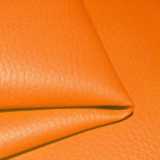 látka-ekokoža-(koženka)-farba-oranžová-d20