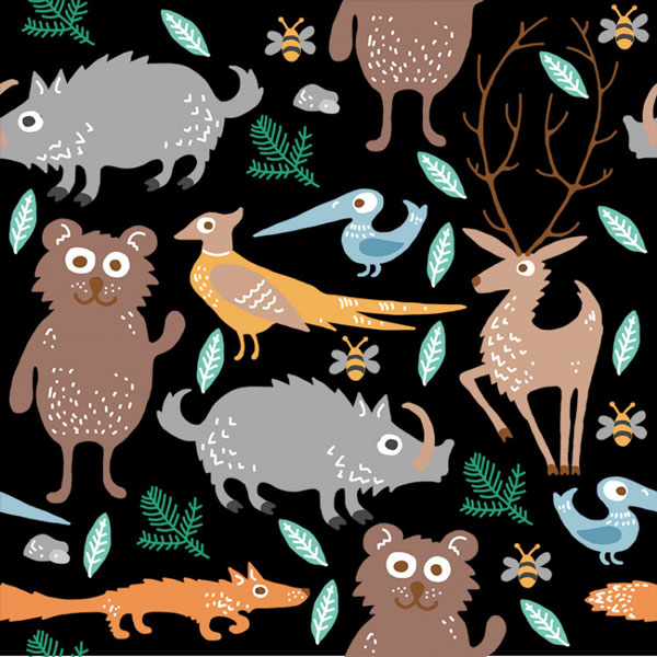 panel-na-pul-nohavičky-animal-black