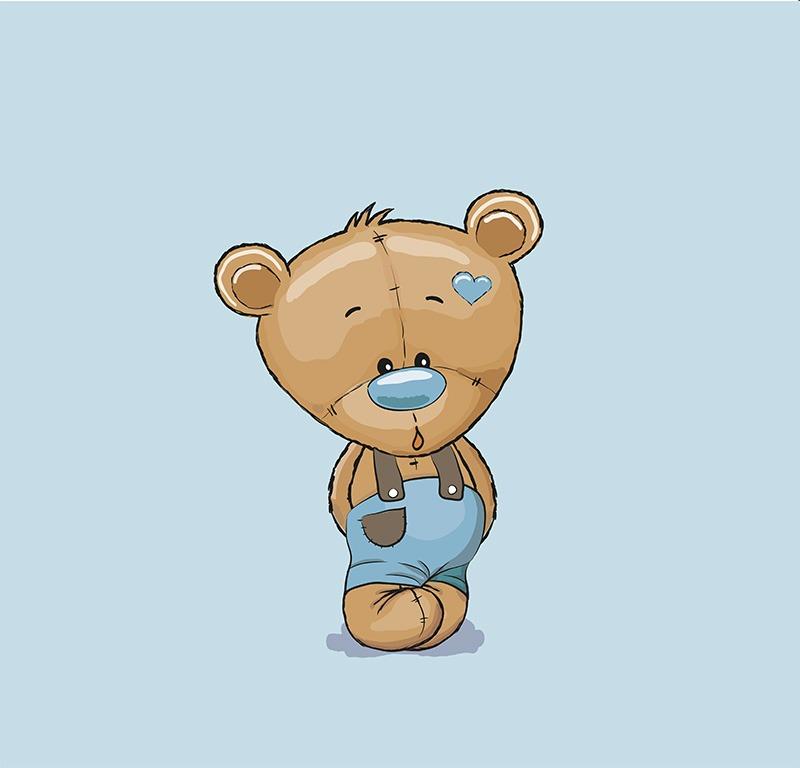 látka-bavlna-premium-panel-m+-50x40-baby-bear-blue