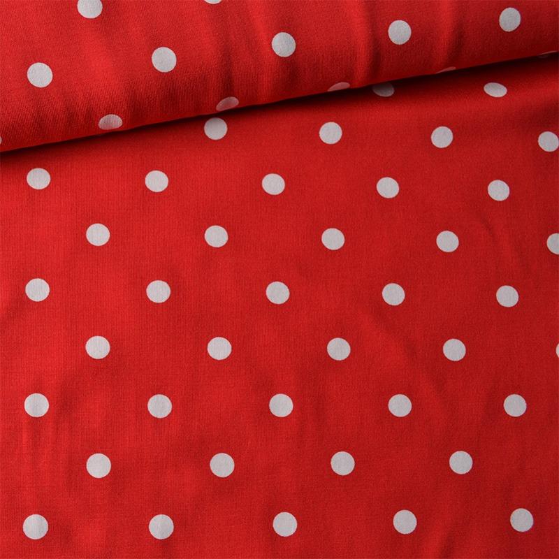látka-úplet-bodky-biele-1-cm-na-červenej