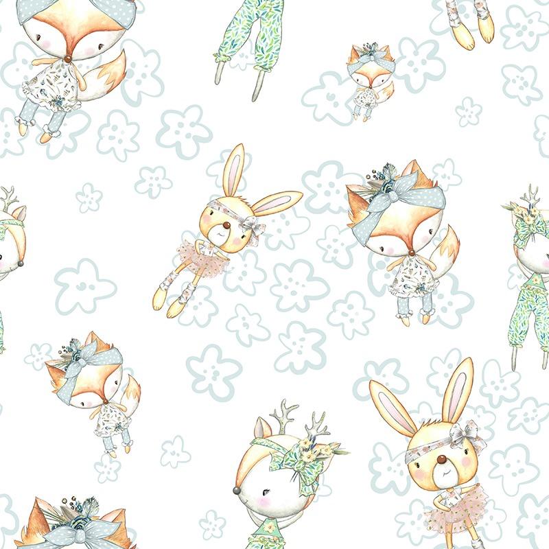 látka-bavlna-premium-bunny-white