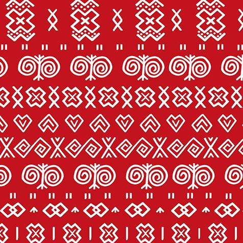 látka-s-potlačou-nepremokavý-polyester-td/ns-vzor-čičmany-červené