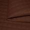 Látka prešívaná ekokoža (koženka) EKOSOFT KARO EK farba tmavohnedá