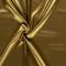 Látka strečový satén zlatý