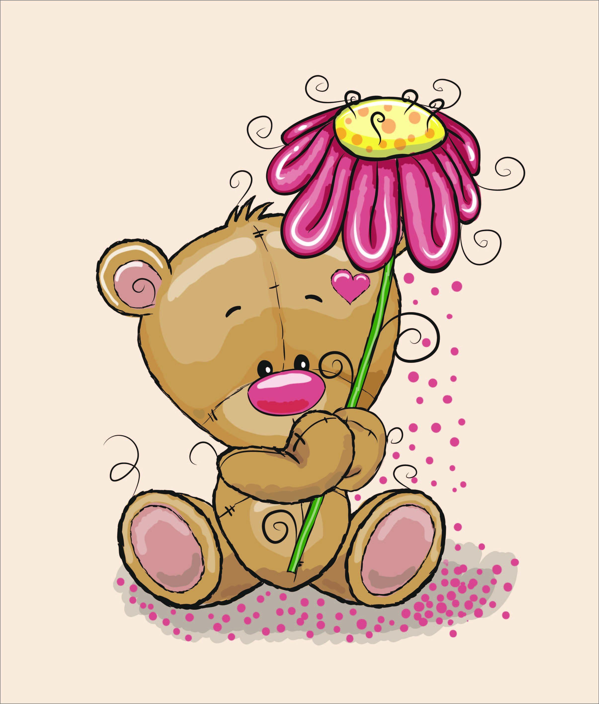 látka-bavlna-premium-panel-xl-85x100-bear-with-flower