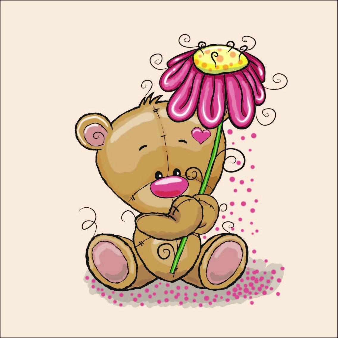 látka-bavlna-premium-panel-m-42x40-bear-with-flower
