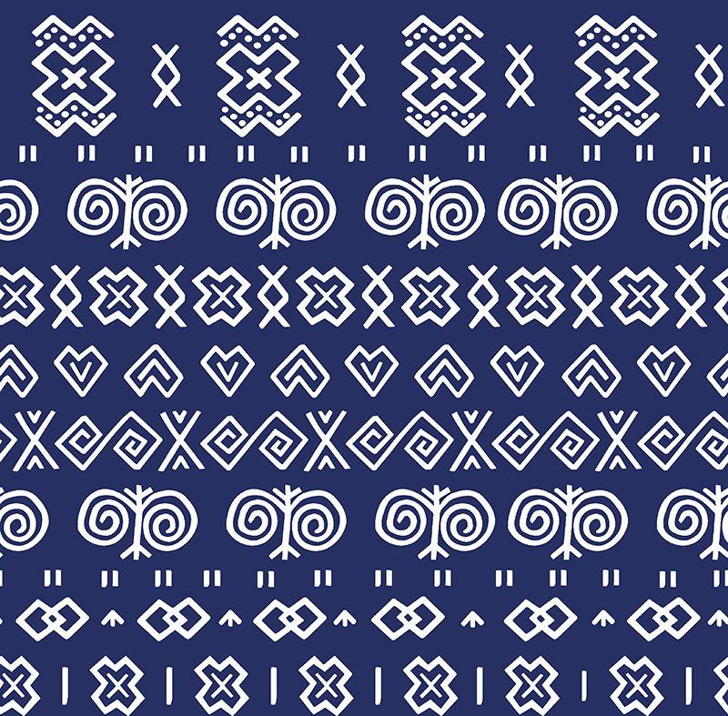 látka-bavlna-premium-čičmany-modré-šírka-210-cm