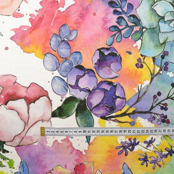 látka-100%-viskózové-plátno-farebná-záhrada--veľký-vzor-