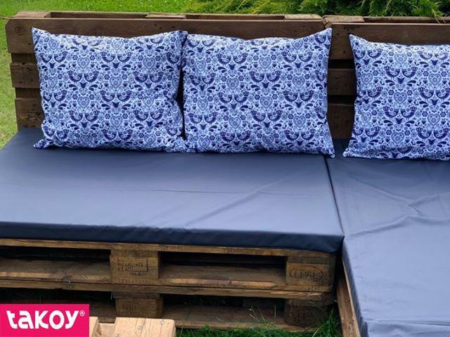 látka-s-potlačou-nepremokavý-polyester-td/ns-ľudové-vtáčiky-vzor-1-modré-na-bielom
