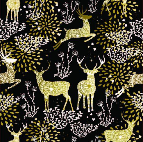 látka-softshell-zimný-zlaté-jelene