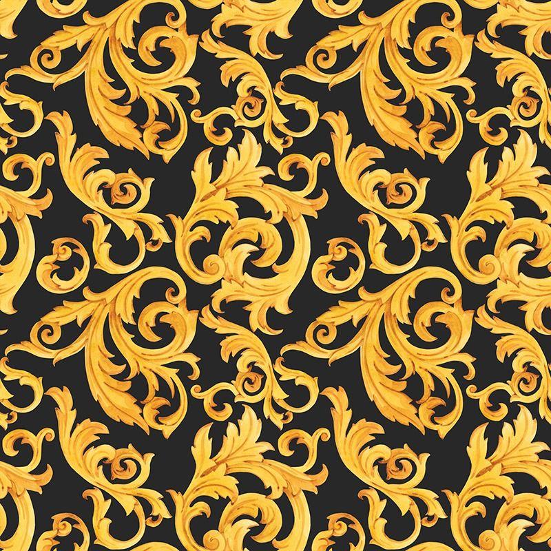 látka-softshell-zimný-zlatý-ornament