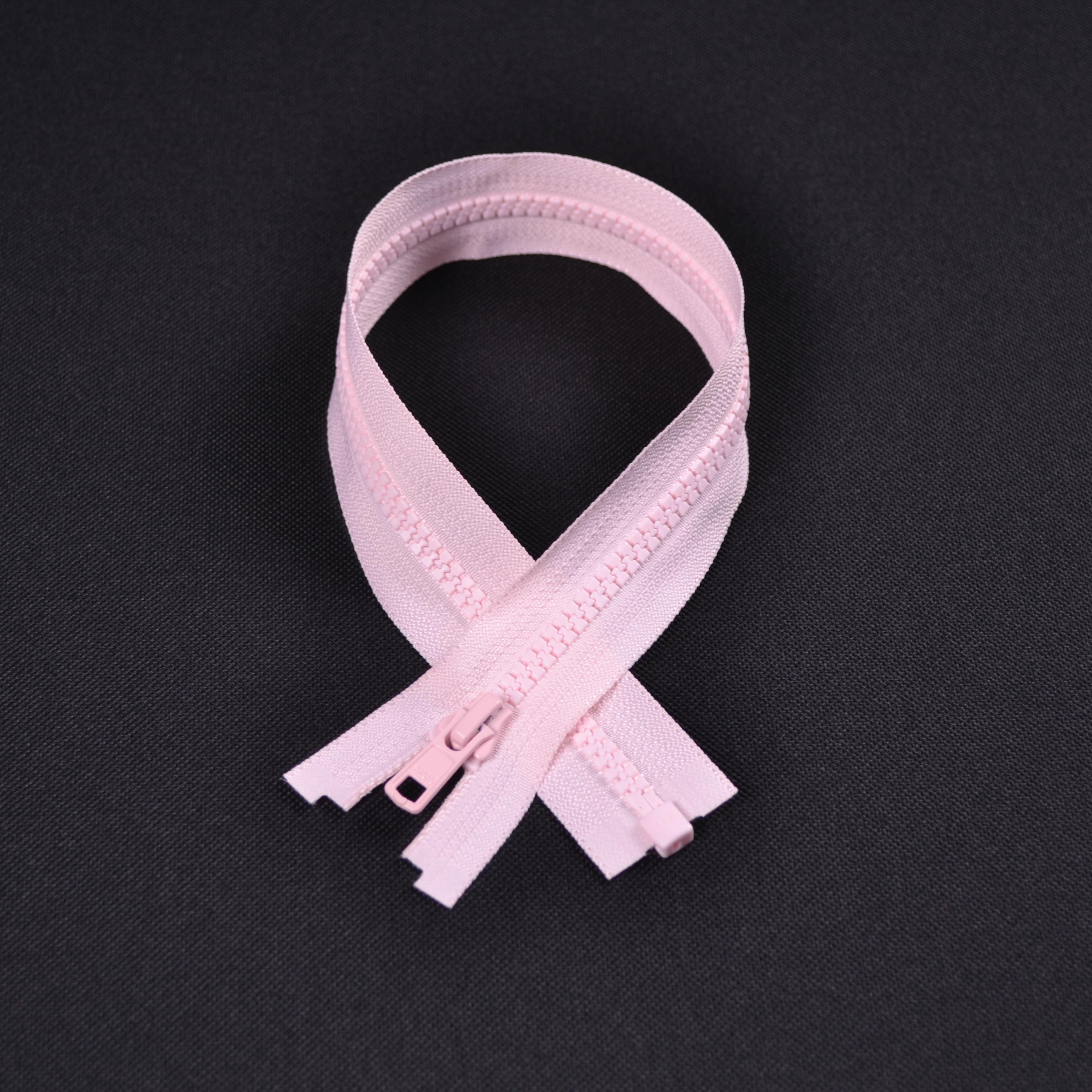 zips-ykk-kostený-deliteľný-5-mm---ružová-40-cm