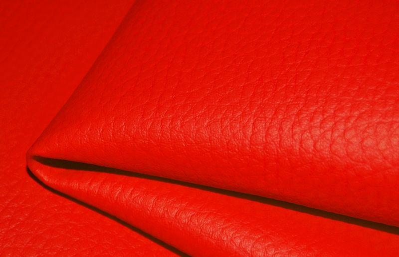 látka-ekokoža-(koženka)-farba-červená