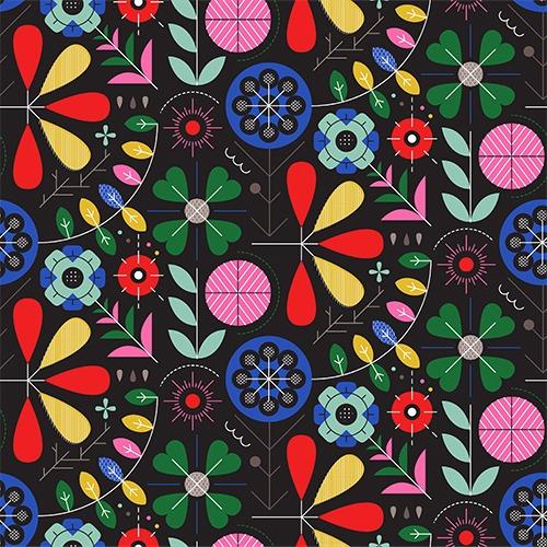 Šušťákovina-so-záterom-geometrický-folk-čierny