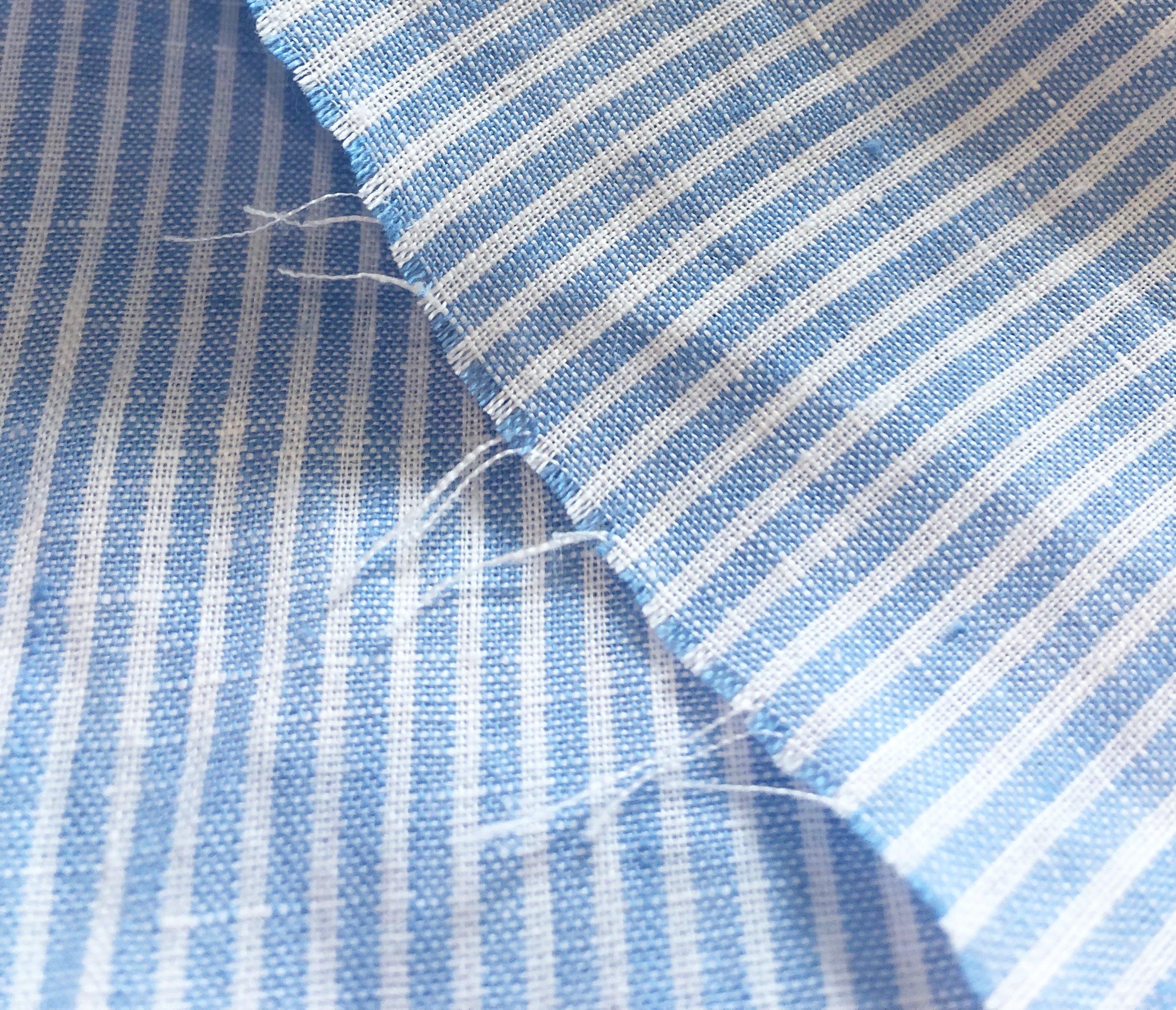 látka-ľan-premium-bielo-modrý-pásik-170g
