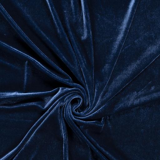 látka-elastický-zamat-premium-modrý