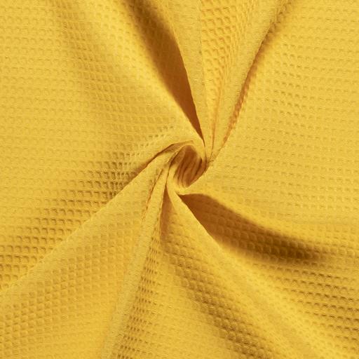 látka-bavlnené-vaflové-piké-farba-žltá