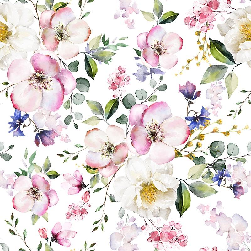 látka-bavlna-premium-letné-kvety-