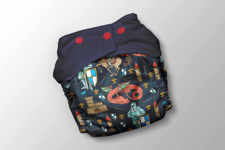 panel-na-pul-nohavičky-rytier-na-tmavomodrej-by-takoy®