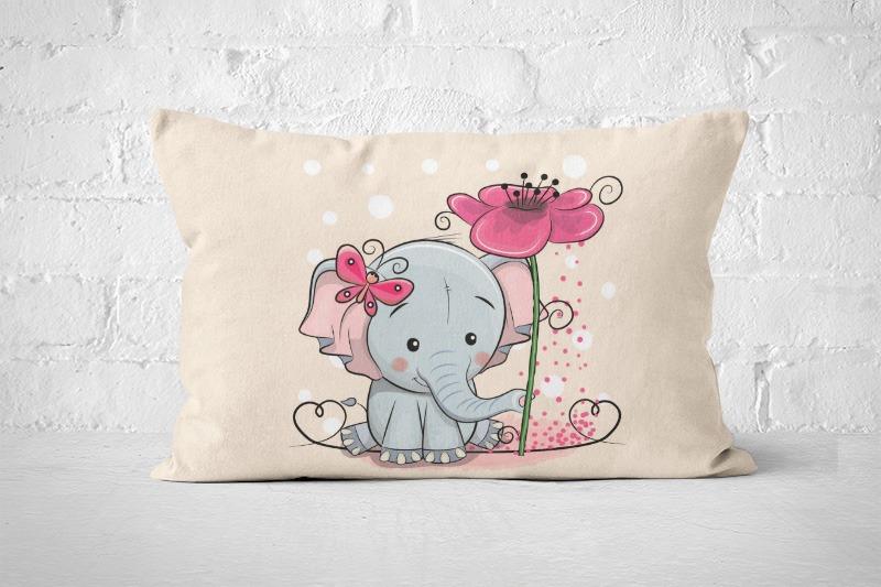 látka-bavlna-premium-panel-l-60x40-elephant-with-flower