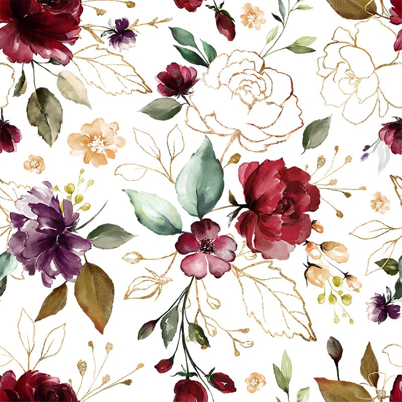 bavlna-premium-zlaté-kvety